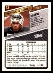1993 Topps #43  Aaron Wallace  Back Thumbnail