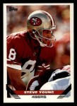 1993 Topps #135  Steve Young  Front Thumbnail