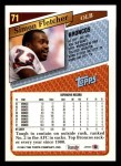 1993 Topps #71  Simon Fletcher  Back Thumbnail