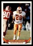1993 Topps #141  Ricky Reynolds  Front Thumbnail