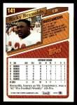 1993 Topps #141  Ricky Reynolds  Back Thumbnail
