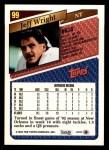 1993 Topps #99  Jeff Wright  Back Thumbnail