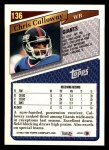1993 Topps #136  Chris Calloway  Back Thumbnail