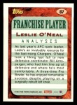 1993 Topps #87  Leslie O'Neal  Back Thumbnail