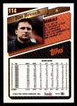 1993 Topps #114  Jim Breech  Back Thumbnail