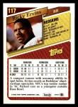 1993 Topps #117  Ricky Ervins  Back Thumbnail