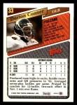 1993 Topps #33  Darion Conner  Back Thumbnail