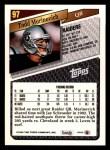 1993 Topps #97  Todd Marinovich  Back Thumbnail