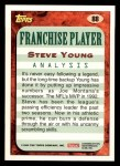 1993 Topps #88  Steve Young  Back Thumbnail