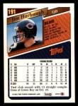 1993 Topps #191  Jim Harbaugh  Back Thumbnail