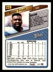 1993 Topps #229  Sean Jones  Back Thumbnail