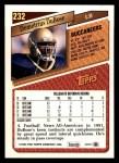 1993 Topps #232  Demetrius DuBose  Back Thumbnail