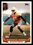 1993 Topps #232  Demetrius DuBose  Front Thumbnail