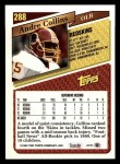 1993 Topps #288  Andre Collins  Back Thumbnail
