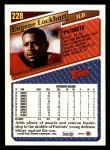 1993 Topps #228  Eugene Lockhart  Back Thumbnail