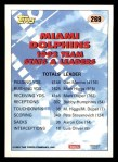 1993 Topps #269   -  Dan Marino Dolphins Leaders Back Thumbnail