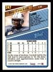 1993 Topps #247  Ray Crockett  Back Thumbnail