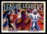1993 Topps #220  Steve Young / Warren Moon  Front Thumbnail