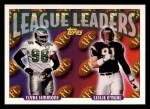 1993 Topps #218  Clyde Simmons / Leslie O'Neal  Front Thumbnail