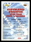 1993 Topps #263   -  Clay Matthews Browns Leaders Back Thumbnail