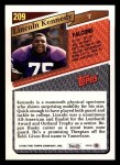 1993 Topps #209  Lincoln Kennedy  Back Thumbnail