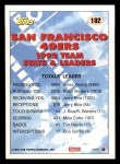 1993 Topps #182   -  Jerry Rice 49ers Leaders Back Thumbnail