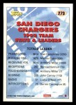 1993 Topps #273   -  Marion Butts Chargers Leaders Back Thumbnail
