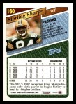 1993 Topps #160  Sterling Sharpe  Back Thumbnail