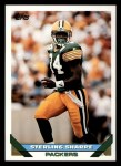 1993 Topps #160  Sterling Sharpe  Front Thumbnail