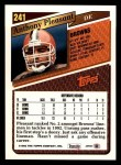 1993 Topps #241  Anthony Pleasant  Back Thumbnail