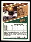 1993 Topps #215  Leonard Renfro  Back Thumbnail