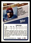 1993 Topps #234  Keith Hamilton  Back Thumbnail
