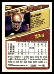 1993 Topps #204  Reggie Brooks  Back Thumbnail