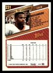 1993 Topps #231  Jimmy Williams  Back Thumbnail