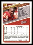 1993 Topps #168  Derrick Thomas  Back Thumbnail