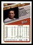 1993 Topps #200  Joe Montana  Back Thumbnail