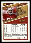 1993 Topps #248  John Taylor  Back Thumbnail
