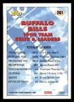 1993 Topps #261   -  Jim Kelly Bills Leaders Back Thumbnail