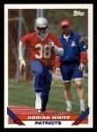 1993 Topps #203  Adrian White  Front Thumbnail