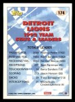 1993 Topps #174   -  Barry Sanders Lions Leaders Back Thumbnail