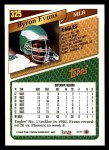 1993 Topps #325  Byron Evans  Back Thumbnail