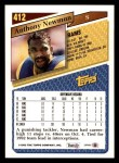 1993 Topps #412  Anthony Newman  Back Thumbnail
