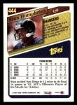 1993 Topps #444  Stan Humphries  Back Thumbnail