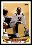 1993 Topps #321  Gary Clark  Front Thumbnail