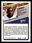 1993 Topps #302  Nate Newton  Back Thumbnail