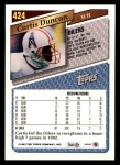1993 Topps #424  Curtis Duncan  Back Thumbnail