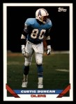 1993 Topps #424  Curtis Duncan  Front Thumbnail