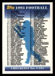 1993 Topps #329   Checklist 1-165 Front Thumbnail