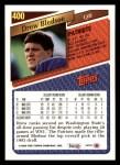 1993 Topps #400  Drew Bledsoe  Back Thumbnail