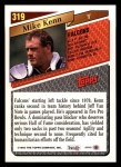 1993 Topps #319  Mike Kenn  Back Thumbnail